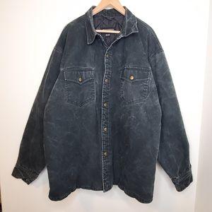Dakota Distressed Denim Lined Button Up Jacket